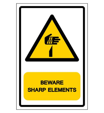 Beware Sharp Elements Symbol, Vector Illustration, Isolate On White Background Label .EPS10 Illustration