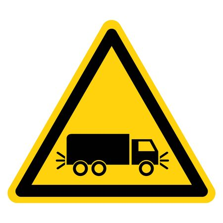 Warning Lighting Sign Before Get Off Symbol Sign, Vector Illustration, Isolate On White Background Label .EPS10