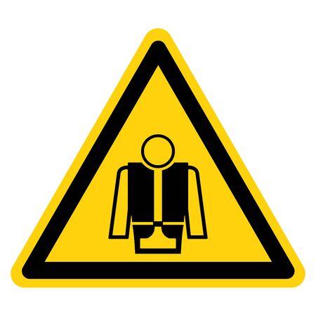 Warning Wear Life Jacket Symbol Sign, Vector Illustration, Isolate On White Background Label .EPS10
