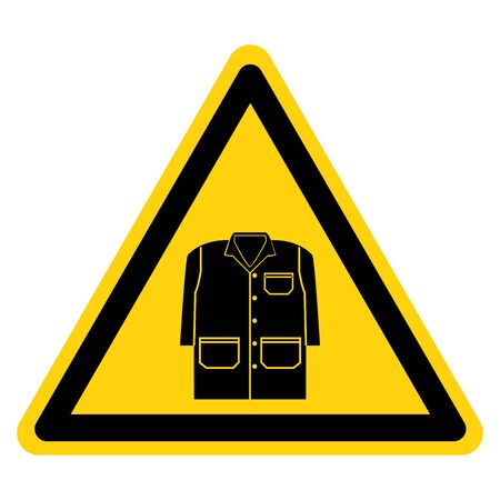 Warning Wear A Gown Symbol Sign, Vector Illustration, Isolate On White Background Label .EPS10