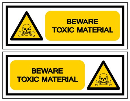 Beware Toxic Material Symbol Sign, Vector Illustration, Isolated On White Background,Icon .EPS10 Reklamní fotografie - 132105673