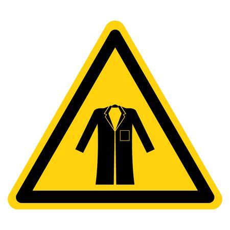 Warning Wear Coat Symbol Sign,Vector Illustration, Isolated On White Background Label. EPS10
