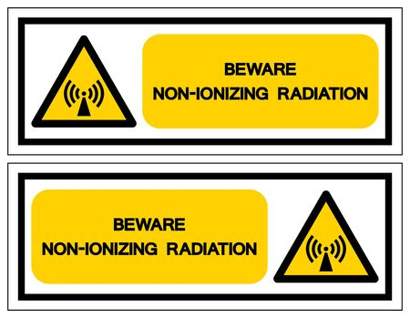 Beware Non-Ionizing Radiation Symbol, Vector Illustration, Isolate On White Background Label. EPS10