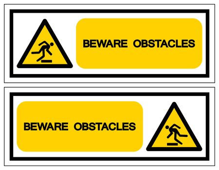 Beware Obstacles Symbol Sign, Vector Illustration, Isolate On White Background Label .EPS10 Ilustrace