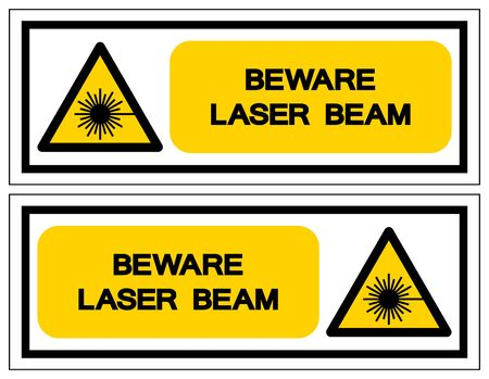 Beware Laser Beam Symbol,Vector Illustration, Isolate On White Background Label. EPS10