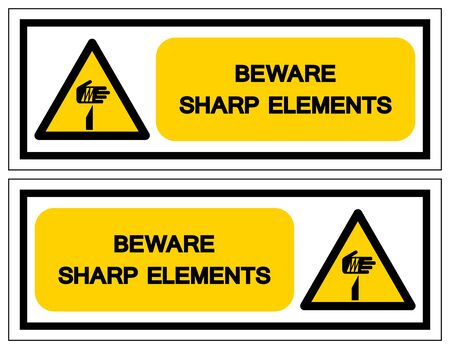 Beware Sharp Elements Symbol, Vector Illustration, Isolate On White Background Label .EPS10  イラスト・ベクター素材