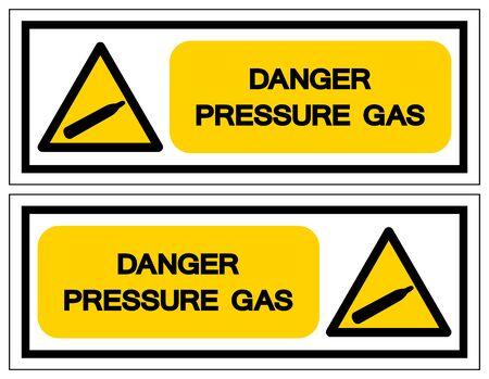 Danger Pressure Gas Symbol Sign, Vector Illustration, Isolate On White Background Label. EPS10