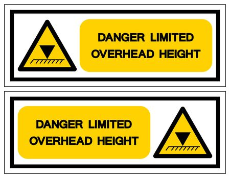 Danger Limited Overhead Height Symbol Sign, Vector Illustration, Isolate On White Background Label .EPS10