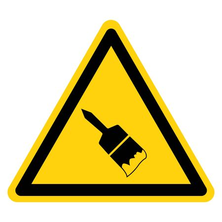 Warning Wet Paint Symbol Sign, Vector Illustration, Isolated On White Background Label .EPS10