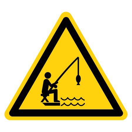 Warning Fishing Area Symbol Sign ,Vector Illustration, Isolate On White Background Label .EPS10