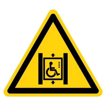 Warning Disabled Only Symbol Sign ,Vector Illustration, Isolate On White Background Label. EPS10