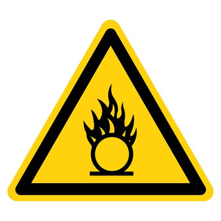 Warning Oxidizer Hazard Symbol Sign, Vector Illustration, Isolate On White Background, Label