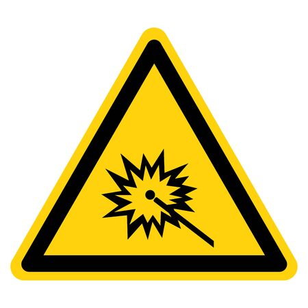 Warning Do Not Watch Arc Symbol Sign ,Vector Illustration, Isolate On White Background Label. EPS10