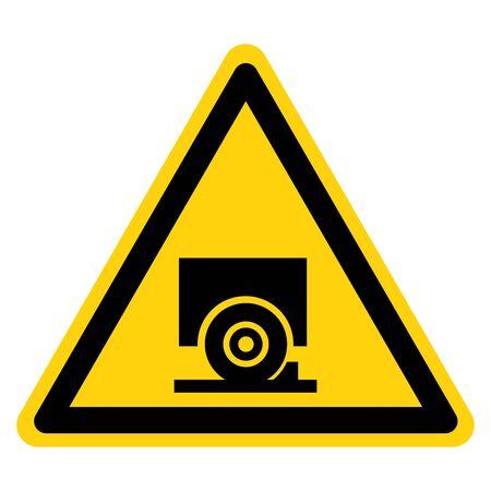 Warning Chock Wheels Symbol Sign, Vector Illustration, Isolate On White Background Label.