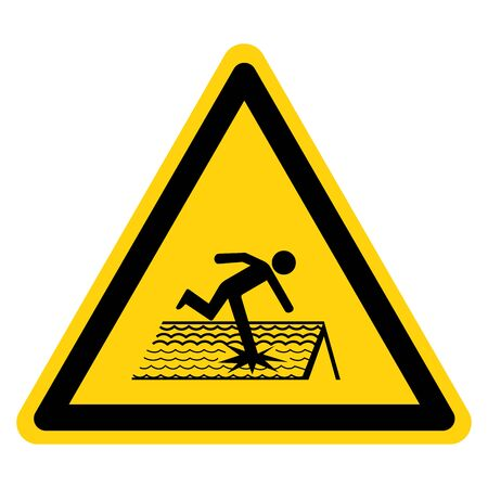 Warning Fragile Roof Symbol Sign, Vector Illustration, Isolate On White Background Label.
