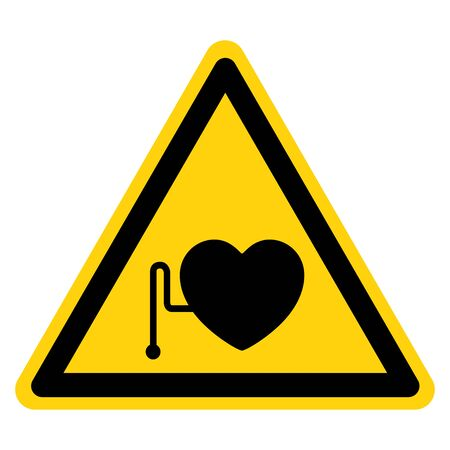 Warning No Access For Persons With Pacemakers Symbol Sign, Vector Illustration, Isolate On White Background Label