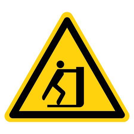 Warning No Pushing Symbol Sign, Vector Illustration, Isolate On White Background Label .EPS10 Illusztráció