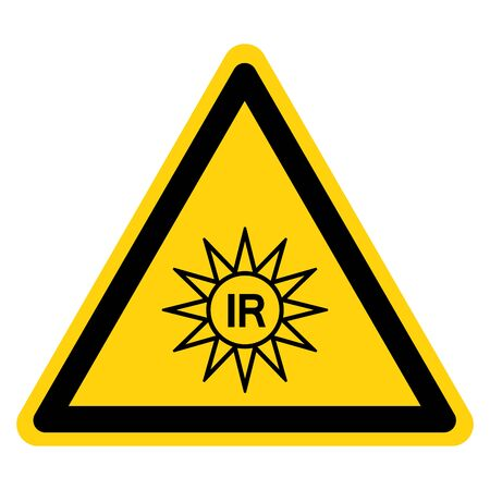 Invisible Radiation Symbol Sign, Vector Illustration, Isolate On White Background Label. 일러스트
