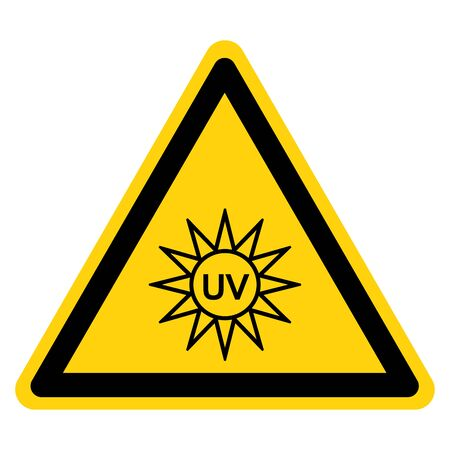 UV Light Symbol Sign, Vector Illustration, Isolate On White Background Label.