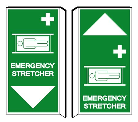 Emergency Stretcher Symbol Sign, Vector Illustration, Isolate On White Background Label Illustration