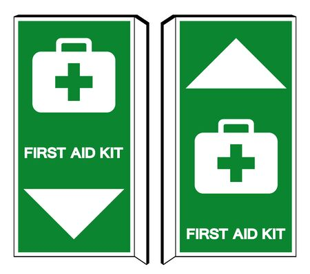 First Aid Kit Symbol Sign, Vector Illustration, Isolate On White Background Label.