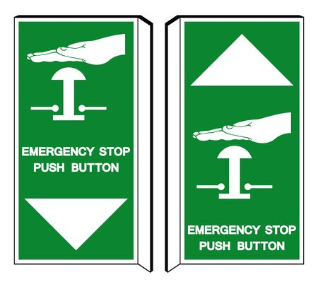 Emergency Stop Push Button Symbol Sign, Vector Illustration, Isolate On White Background Label