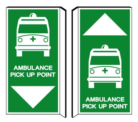 Ambulance Pick Up Point Symbol Sign,Vector Illustration, Isolate On White Background, Label ,Icon. EPS10 Banque d'images - 133002478