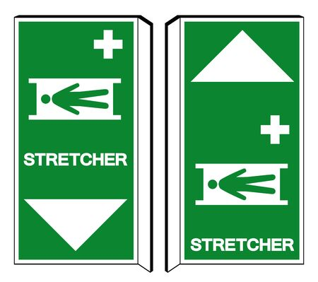 Stretcher Symbol Sign, Vector Illustration, Isolate On White Background Label .EPS10 Illustration