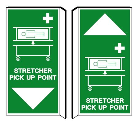 Stretcher Pick Up Point Symbol Sign, Vector Illustration, Isolate On White Background Label . Illustration