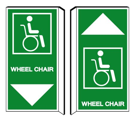 Wheelchair Hospital Symbol, Vector Illustration, Isolate On White Background Icon.