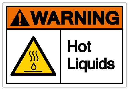 Warning Hot Liquids Symbol Sign, Vector Illustration, Isolate On White Background Label
