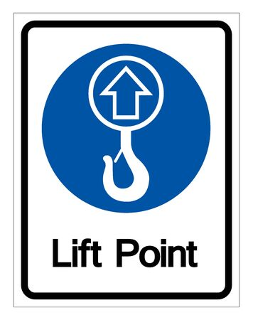 Lift Point Symbol Sign,Vector Illustration, Isolated On White Background Label.