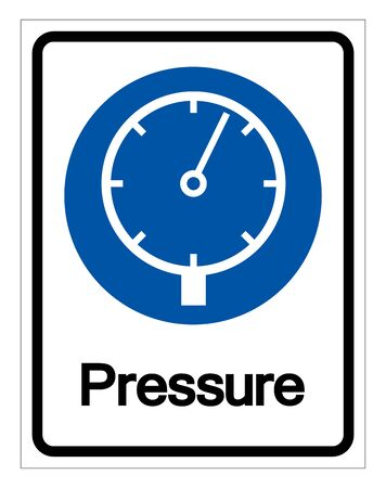Pressure Symbol Sign,Vector Illustration, Isolated On White Background Label.