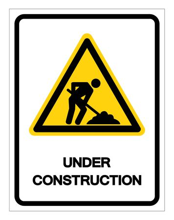 Under Construction Symbol Sign, Vector Illustration, Isolate On White Background Label
