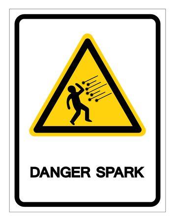 Danger Spark Symbol Sign, Vector Illustration, Isolate On White Background Label Illusztráció