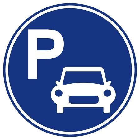Car Parking Symbol Sign,Vector Illustration, Isolated On White Background Label .EPS10