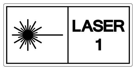 Laser Symbol Sign ,Vector Illustration, Isolate On White Background Label. EPS10 Ilustração