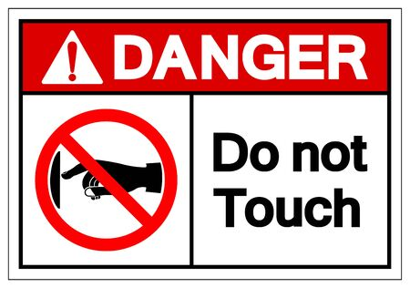 Danger Do not touch Symbol Sign, Vector Illustration, Isolate On White Background Label. EPS10 向量圖像