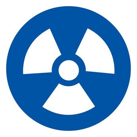 Radiation Hazard Symbol Sign,Vector Illustration, Isolated On White Background Icon. EPS10