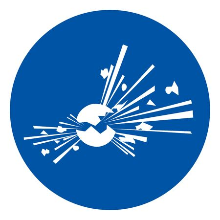 Explosive Material Symbol, Vector Illustration, Isolate White On Background Label. EPS10  向量圖像