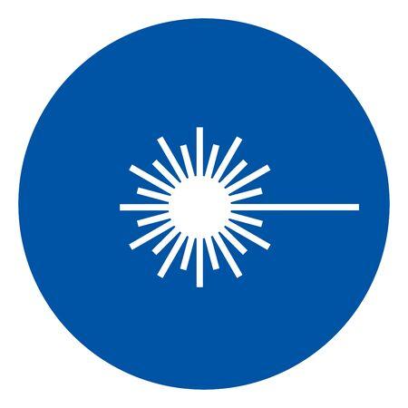 Laser Beam Symbol,Vector Illustration, Isolate On White Background Label. EPS10