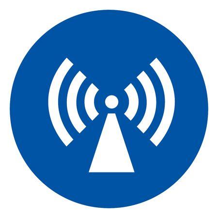Non-Ionizing Radiation Symbol, Vector Illustration, Isolate On White Background Label. EPS10