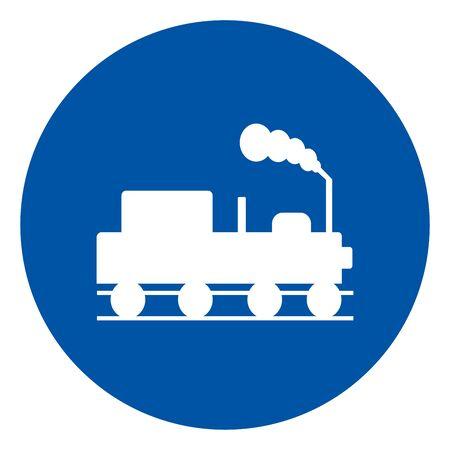 Danger Beware Of Trains Symbol Sign, Vector Illustration, Isolate On White Background, Label. EPS10 Ilustração