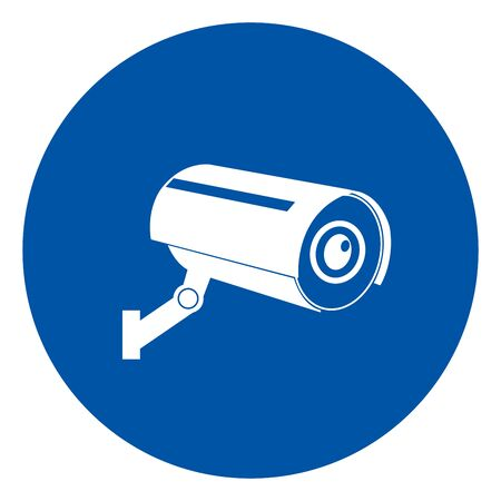 CCTV Security Symbol Sign, Vector Illustration, Isolate On White Background Label .EPS10