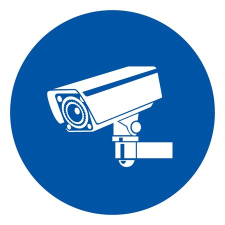 Warning CCTV Symbol Sign, Vector Illustration, Isolate On White Background Label .EPS10 Ilustracja