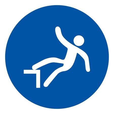 Sudden Drop Symbol, Vector Illustration, Isolate On White Background Label. EPS10