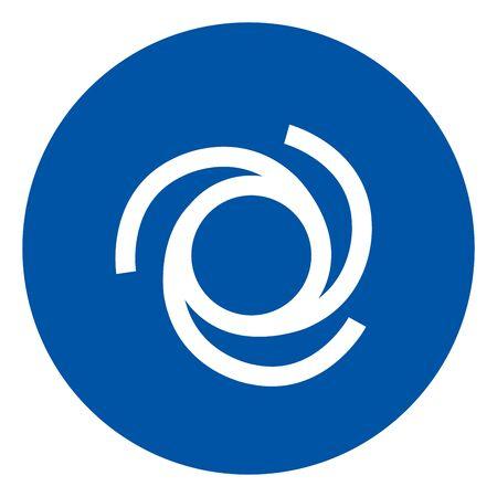 Automatic Start-Up Symbol ,Vector Illustration, Isolate On White Background Label. EPS10