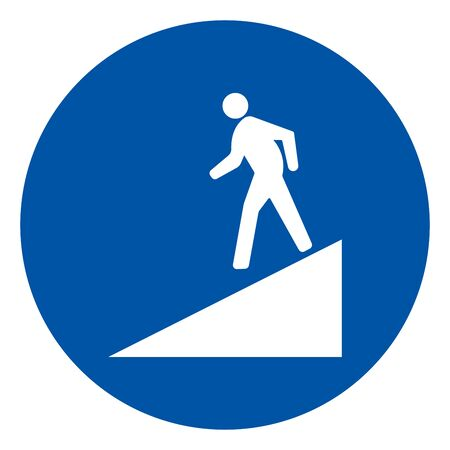 Beware Slope Symbol Sign,Vector Illustration, Isolate On White Background Label. EPS10 Ilustração