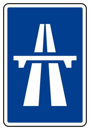 Expressway Symbol Sign, Vector Illustration, Isolate On White Background Label. EPS10