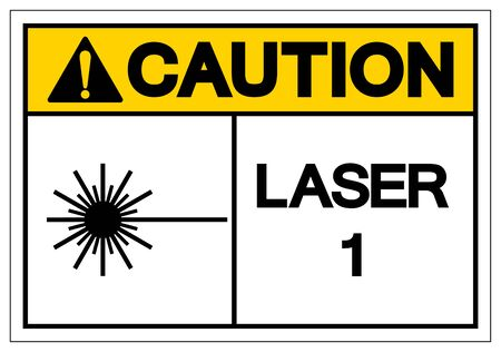 Caution Laser 1 Symbol Sign ,Vector Illustration, Isolate On White Background Label. EPS10